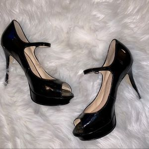 Marc Fisher Patent leather peep toe pump